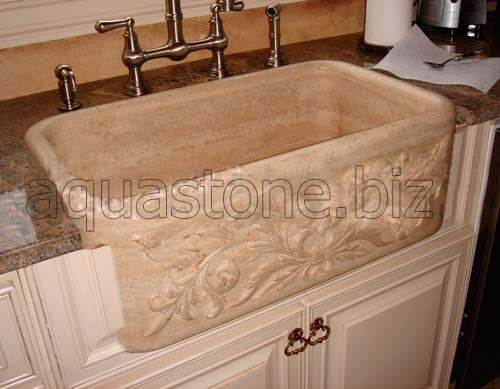Beige Kitchen Sink
