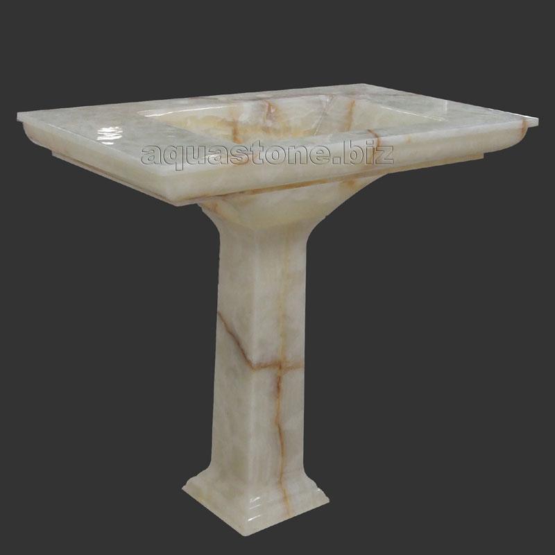Seashell Pedestal Sink